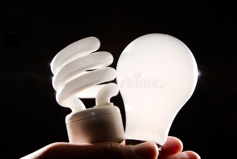 Download Incandescent And Cfl Lightbulb On Black Stock Images - Image: 4794684