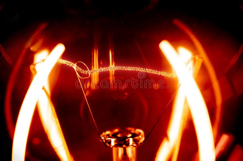 Incandescent close-up. / low-burning stock photos