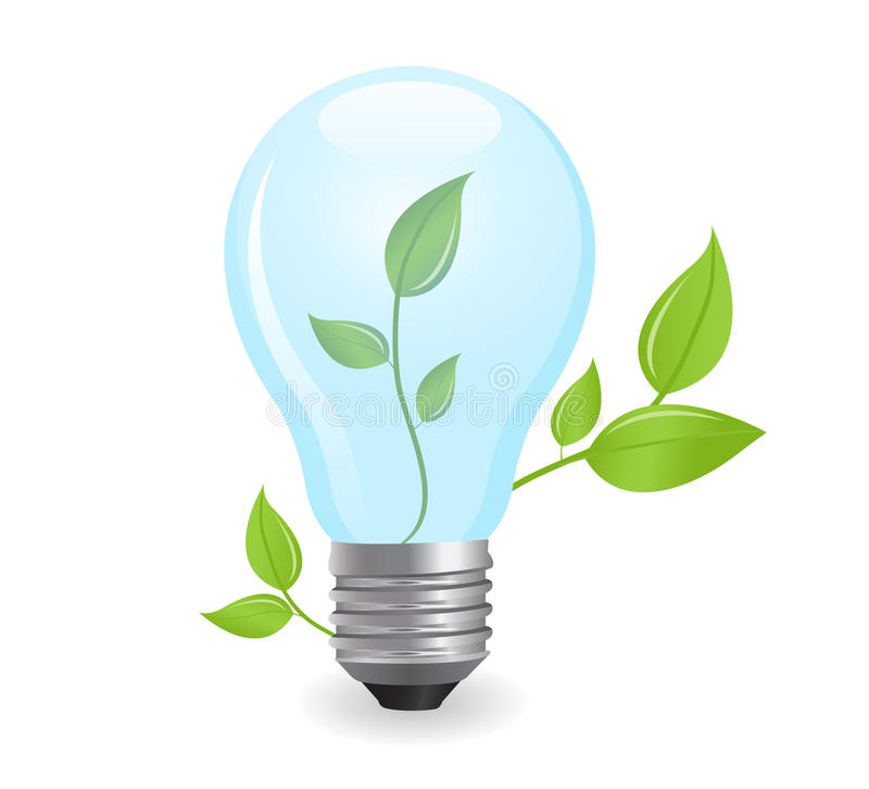 Incandescent electric lamp. In format stock illustration