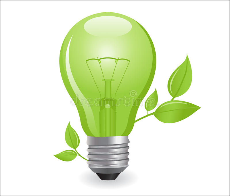 Incandescent electric lamp. In format royalty free illustration