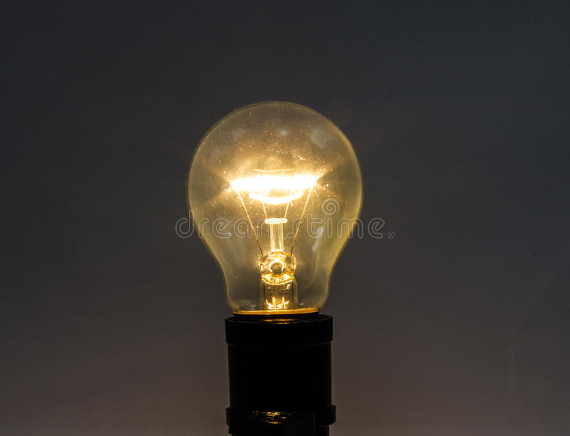 Incandescent Lamp. Bright by electricity royalty free stock photography