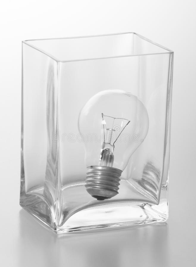Download Incandescent Lamp In The Cube Stock Photo - Image of modern, vase: 10625262