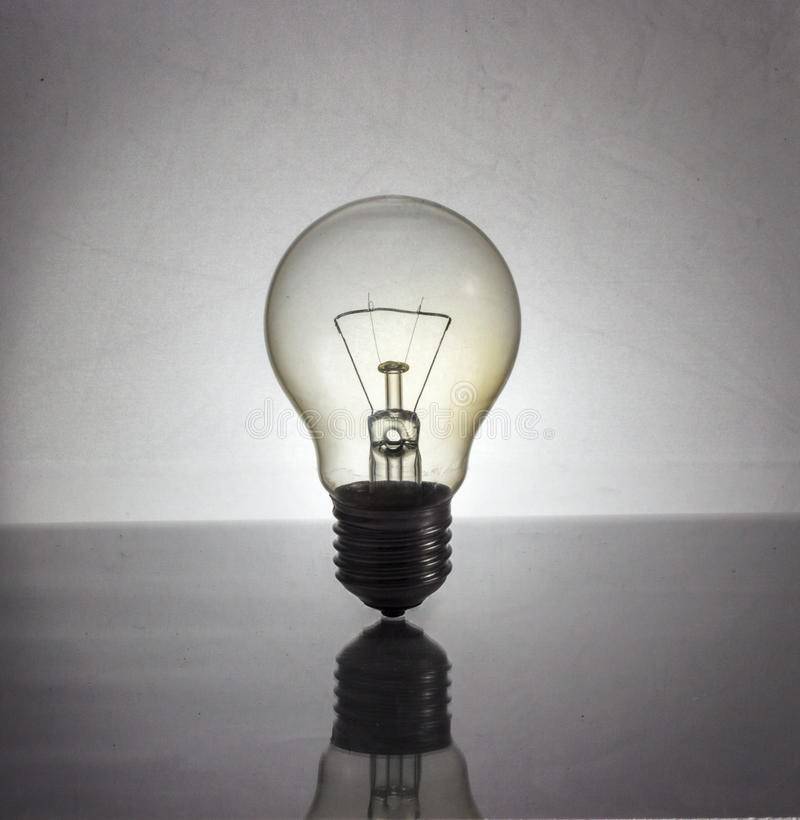 Incandescent Lamp. Issolate on white background stock photography
