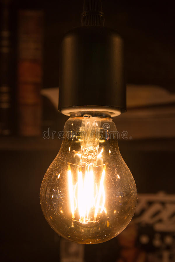 Incandescent lamp. Warm and yellow incandescent lamp stock images