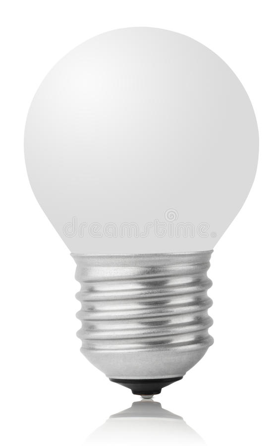 Incandescent lamp on white. With clipping path royalty free stock images