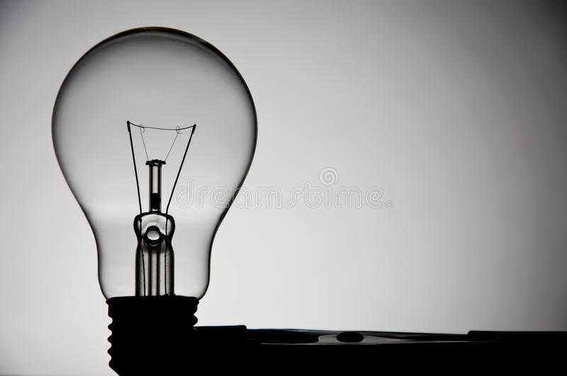 Incandescent light. In white background royalty free stock photo