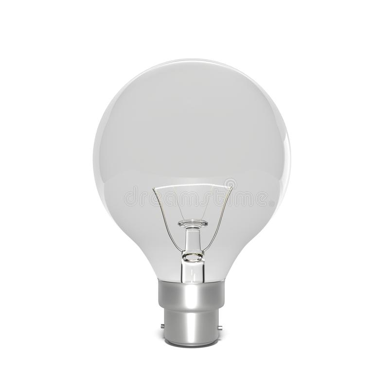 Incandescent light bulb 3d rendering royalty free illustration