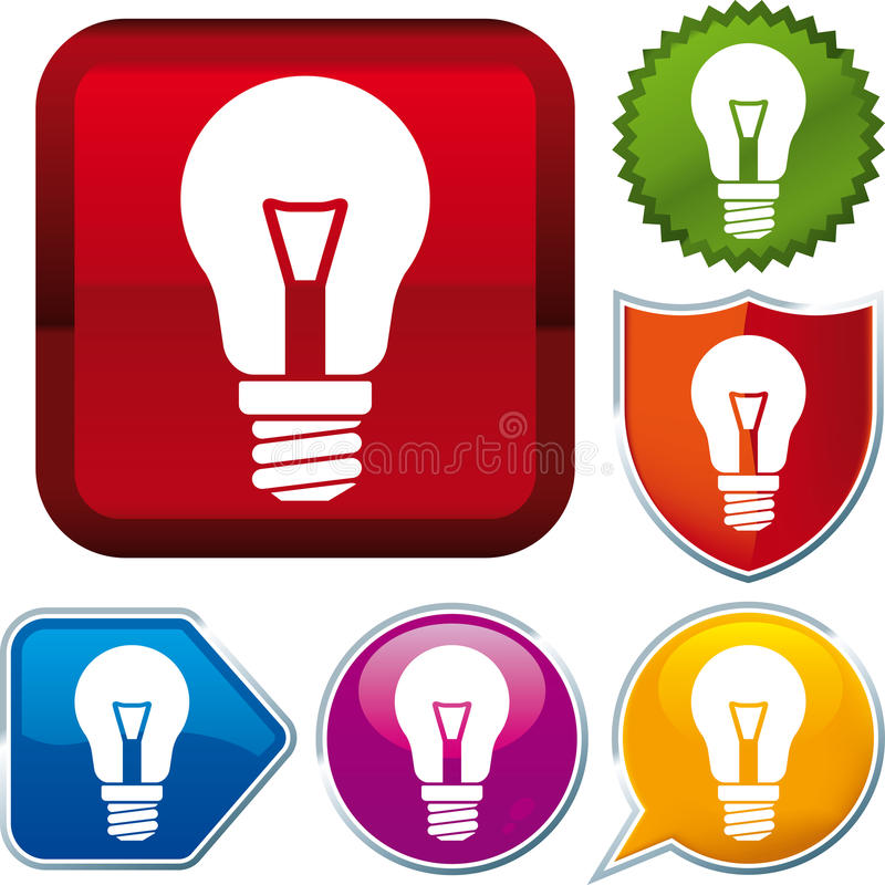 Free Incandescent Lightbulb Icon Royalty Free Stock Photography - 26995357