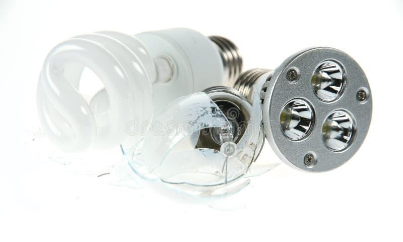 Incandescente dominado por fluorescente y el LED foto de archivo libre de regalías