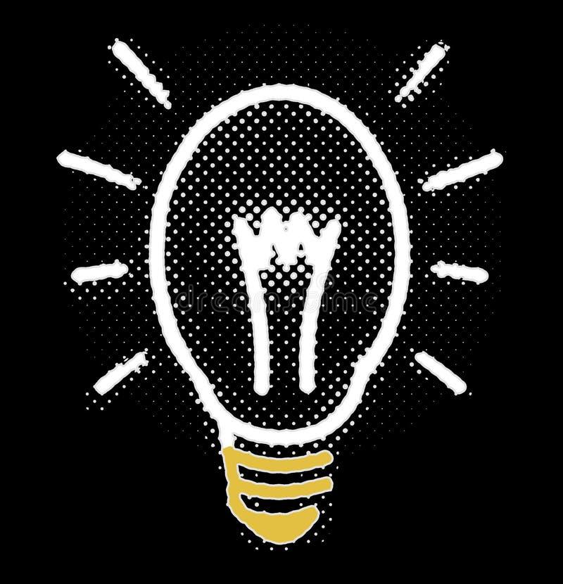 Incandescenza al neon fresca della lampadina royalty illustrazione gratis
