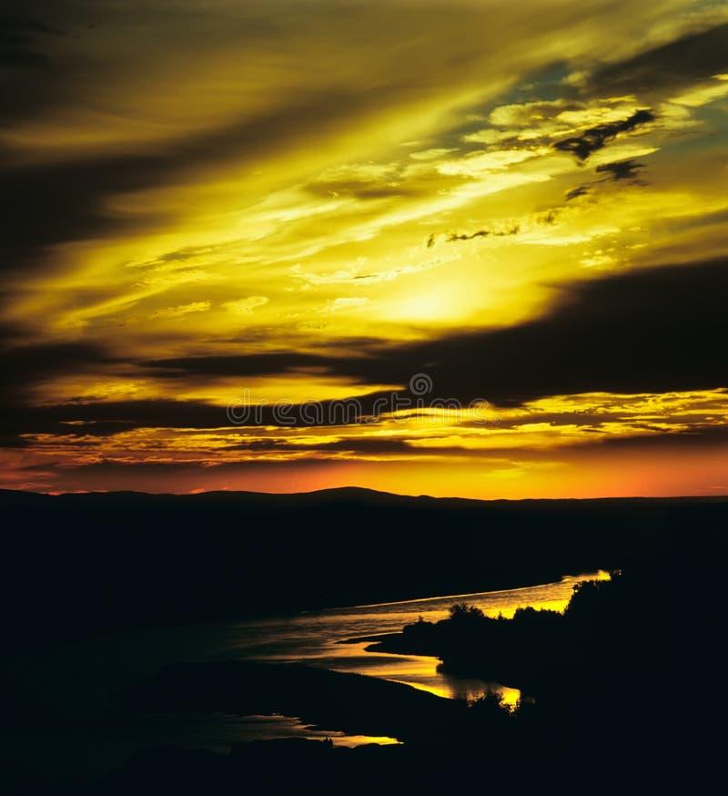Incandescenza di tramonto immagine stock libera da diritti