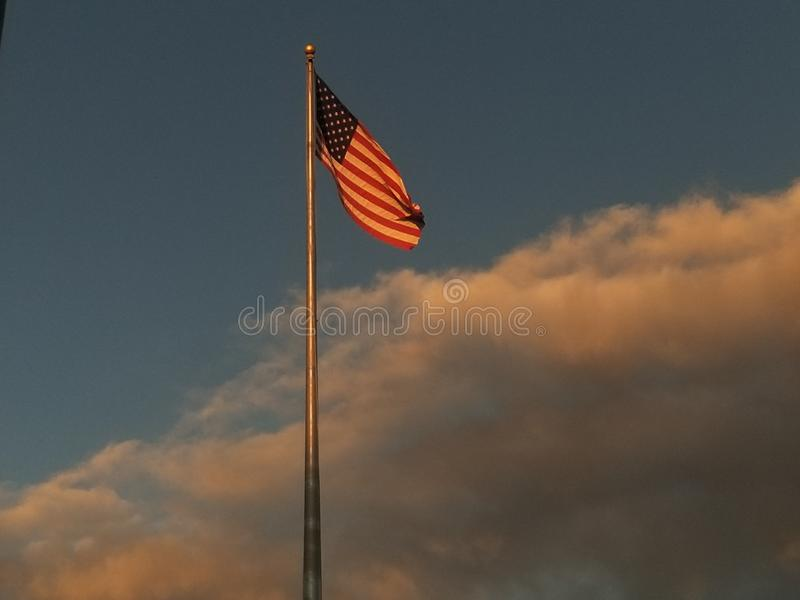 Incandescenza dorata dell'America fotografia stock libera da diritti
