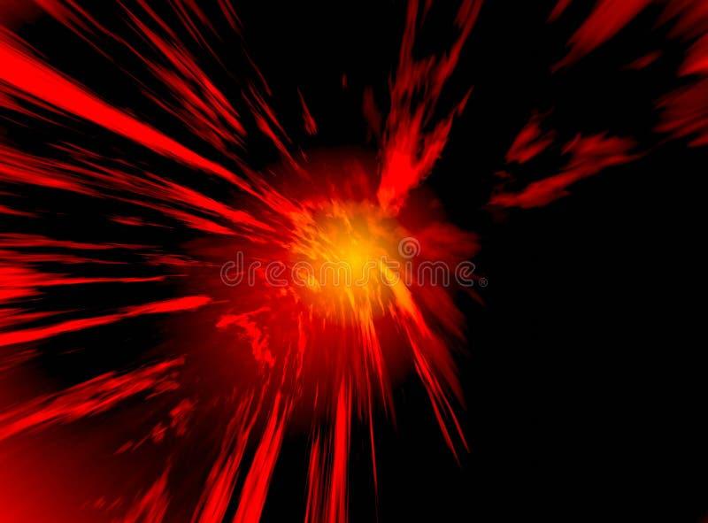 Incandescenza rossa nello spazio illustrazione vettoriale