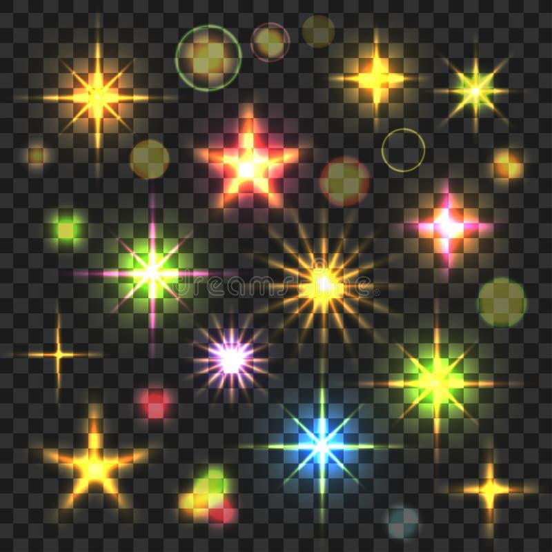 Incandescer Stars os alargamentos ajustados ilustração royalty free
