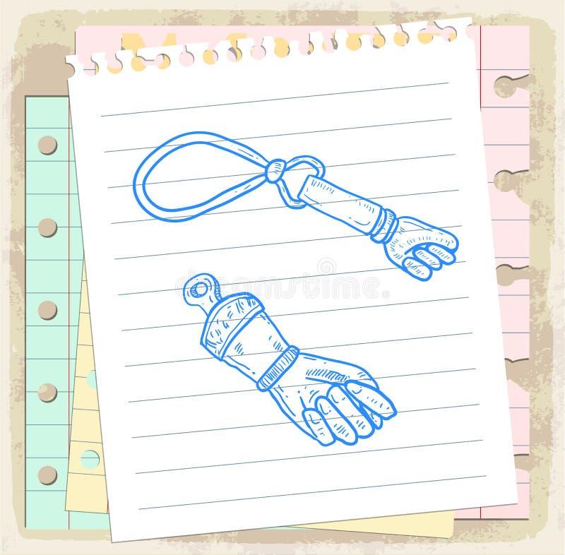 Incanto fortunato del fumetto sulla nota di carta, illustrazione di vettore royalty illustrazione gratis