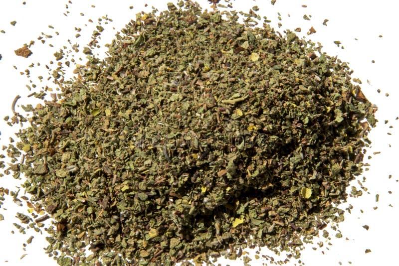 Incanus do Cistus - erva secada isolada no fundo branco fotografia de stock