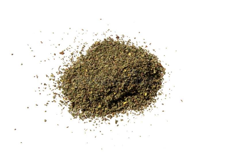 Incanus do Cistus - erva secada isolada no fundo branco fotografia de stock royalty free