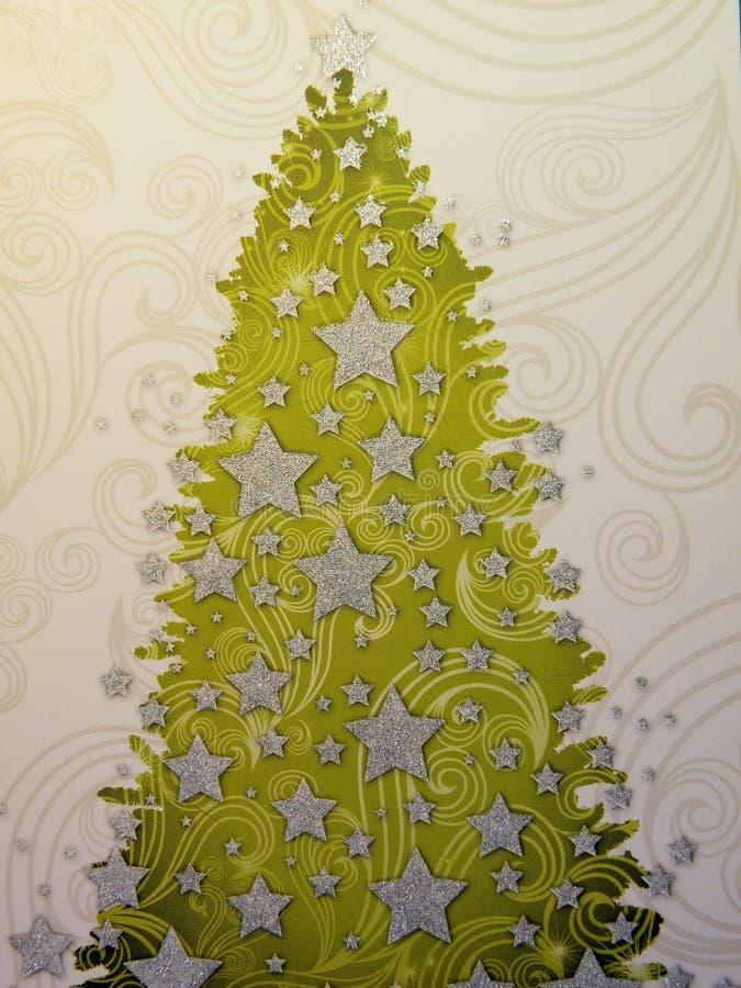 Incarti con l'albero di Natale fotografia stock
