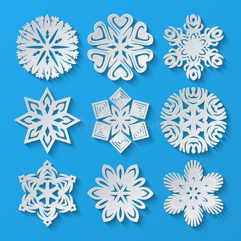 Incarti i fiocchi di neve Insieme 4 illustrazione di stock
