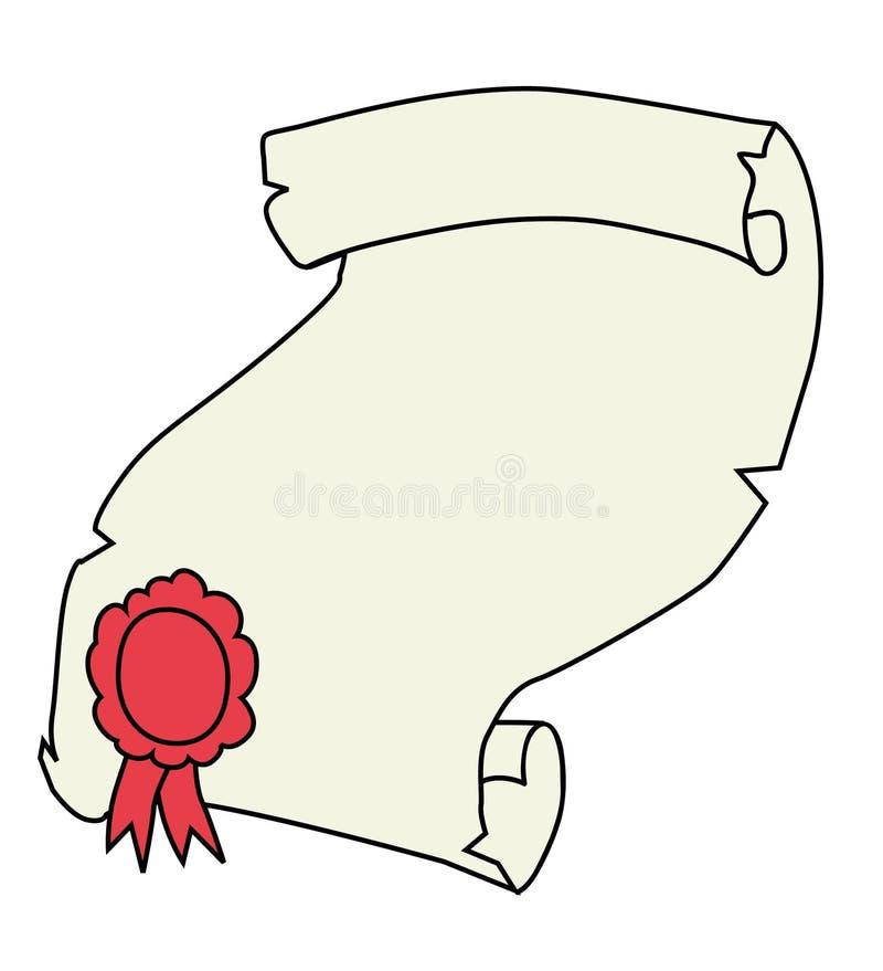Incarti il certificato royalty illustrazione gratis