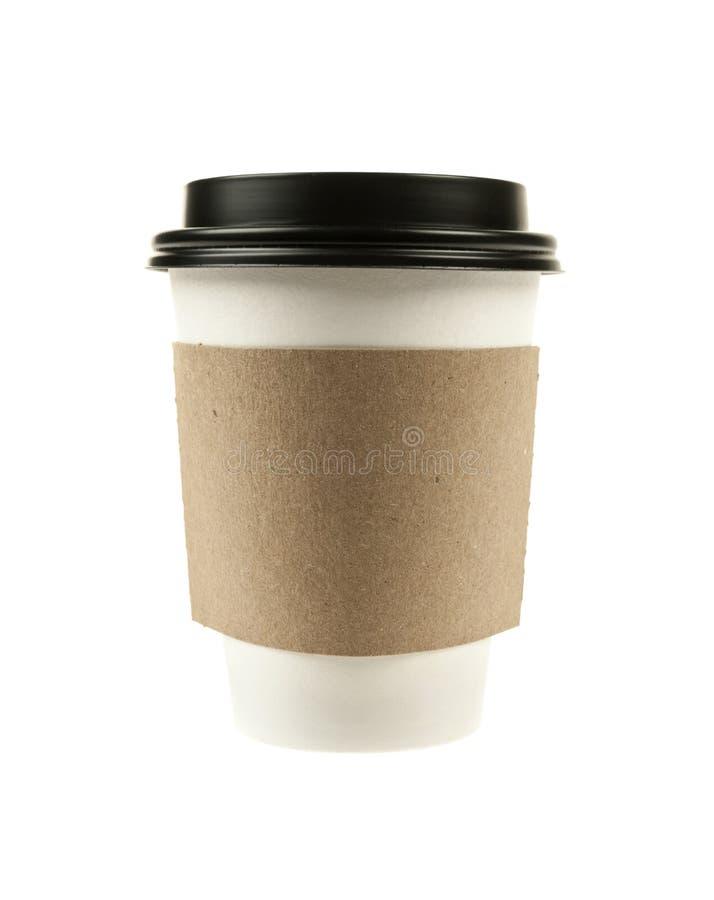 Incarti la tazza di caffè fotografie stock libere da diritti