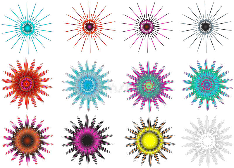incas 12 abstrakcjonistycznej gwiazdy ilustracja wektor