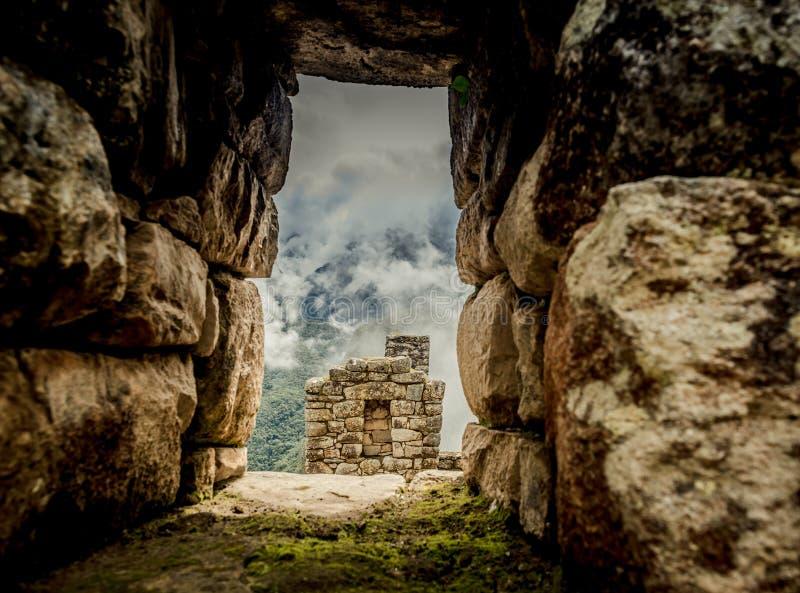 Incas architektura przed Huayna Picchu obraz royalty free
