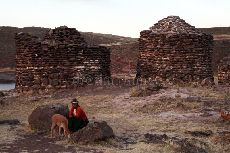 Incas grobowowie zdjęcie royalty free