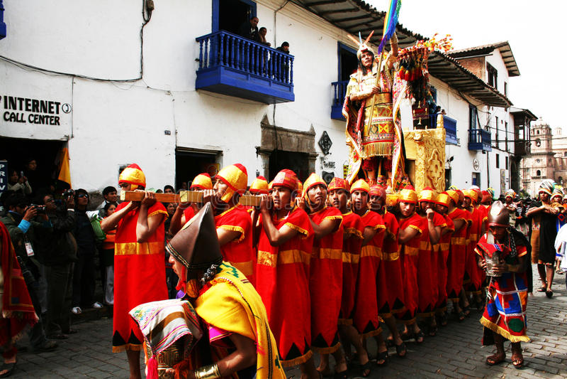 incas inti królewiątka raymi zdjęcie royalty free