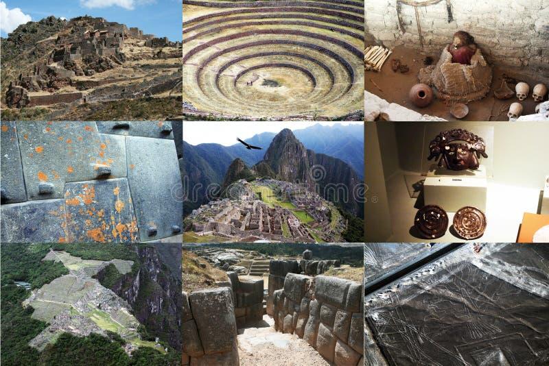 Incas kolaż zdjęcie stock