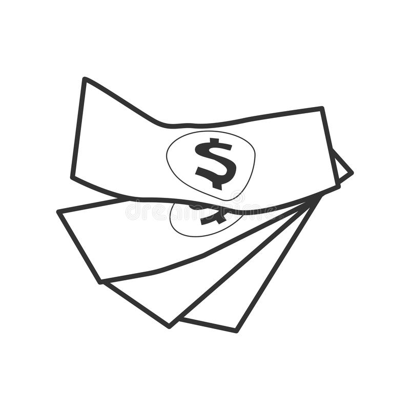 Incassi i soldi illustrazione di stock