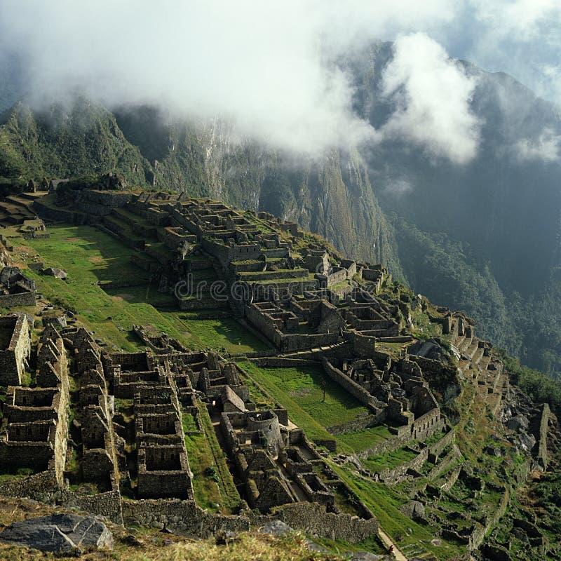 Incastad van Picchu van Machu stock fotografie