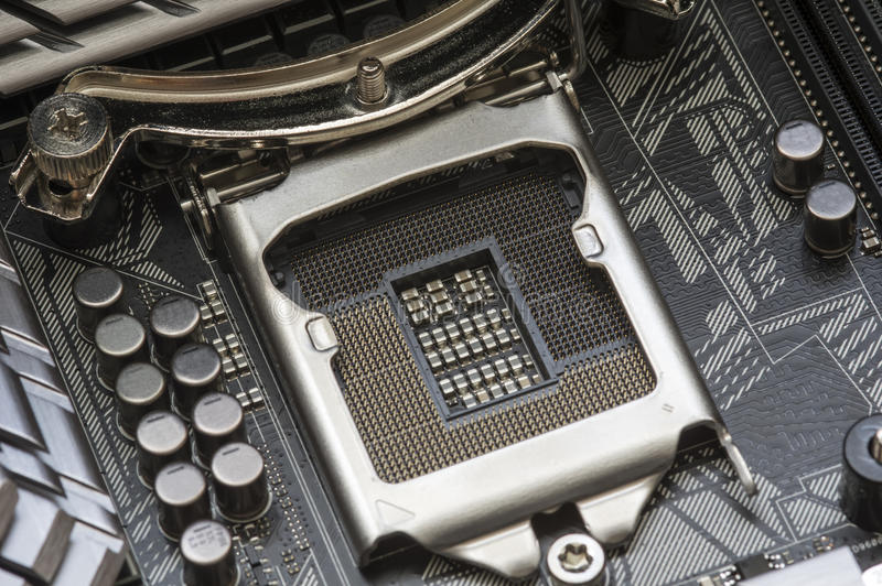 Incavo del CPU del computer immagini stock
