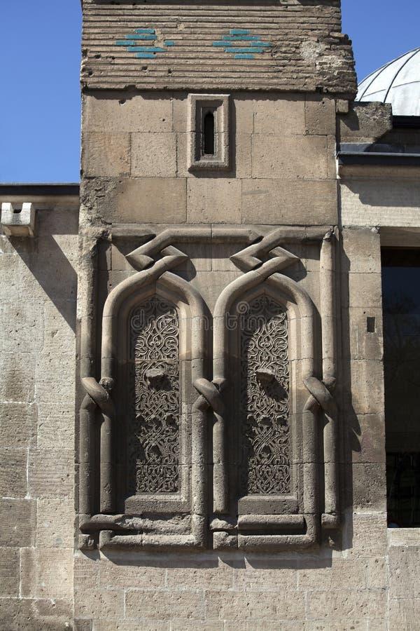 Ince Minareli Medrese, Konya, Turkije stock foto