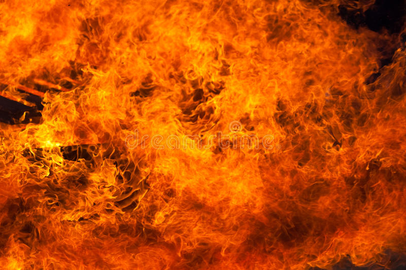 Incendie photo stock