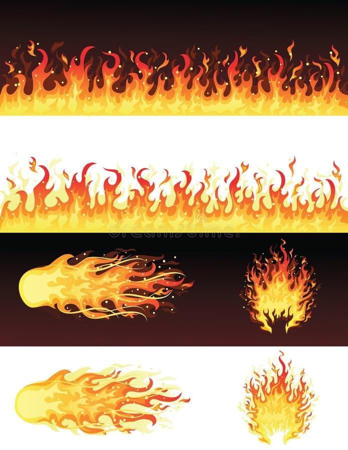 Incendie. illustration libre de droits