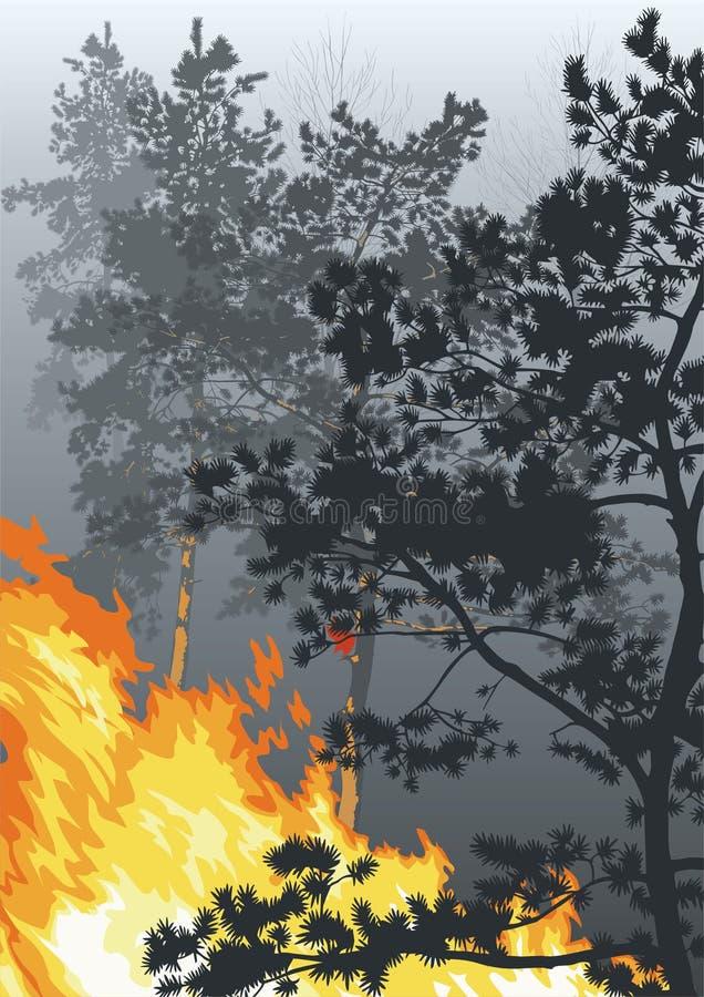 Incendie illustration libre de droits