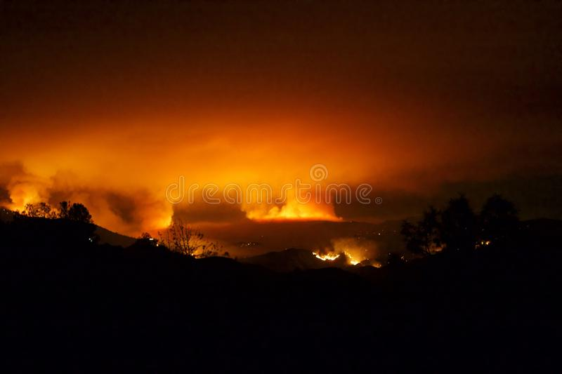 Incendie photographie stock