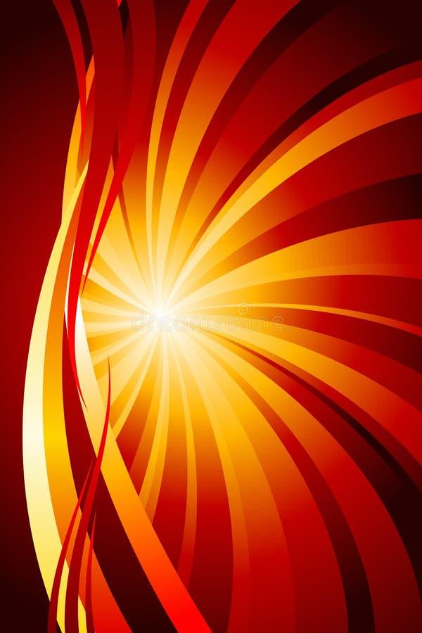 Incendie abstrait illustration de vecteur
