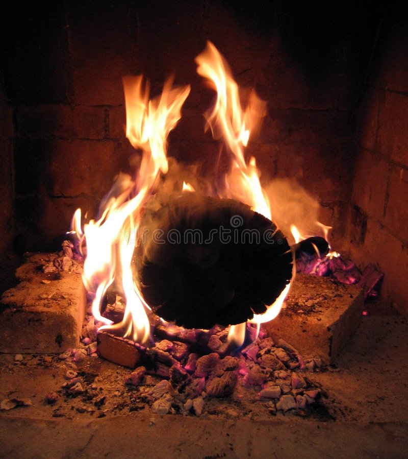 Incendie brûlant photo stock