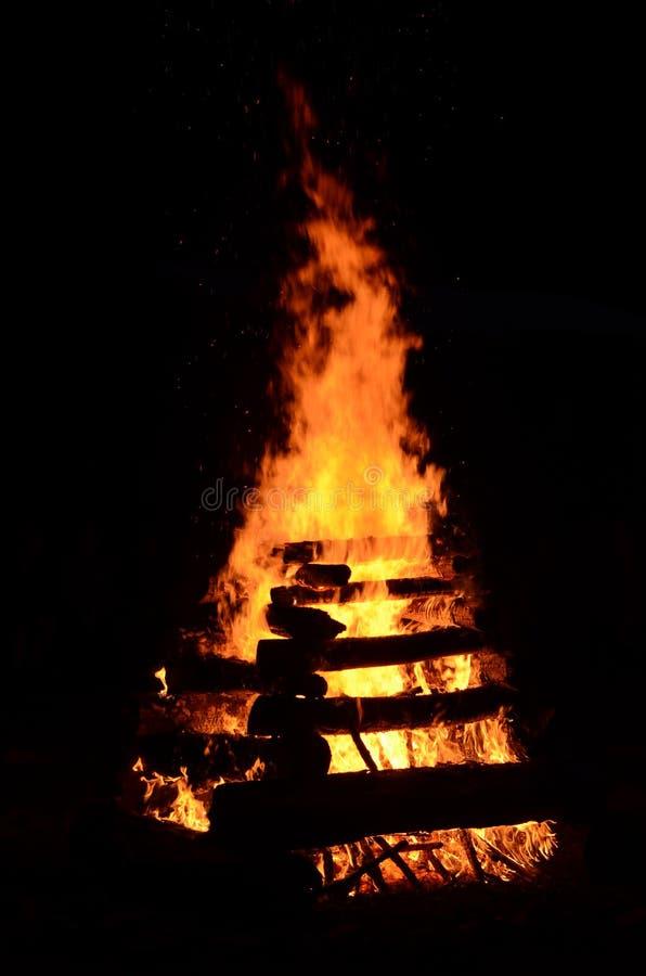 Incendie campant photo stock