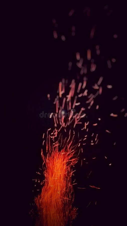 Incendie campant photos libres de droits