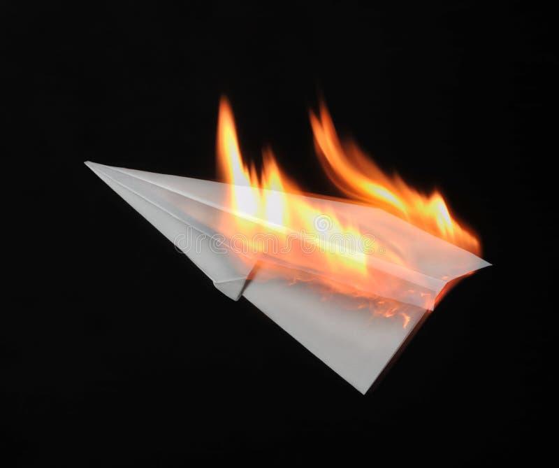 Incendie d'aéronefs images stock