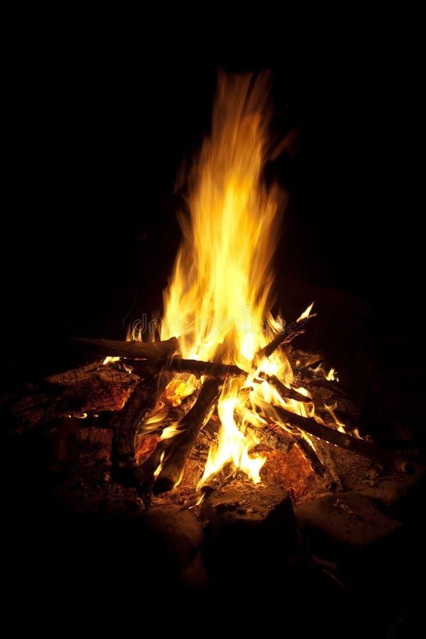 Incendie de camp image libre de droits