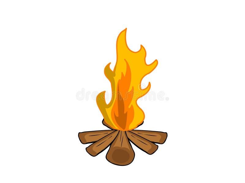 Incendie de camp illustration stock