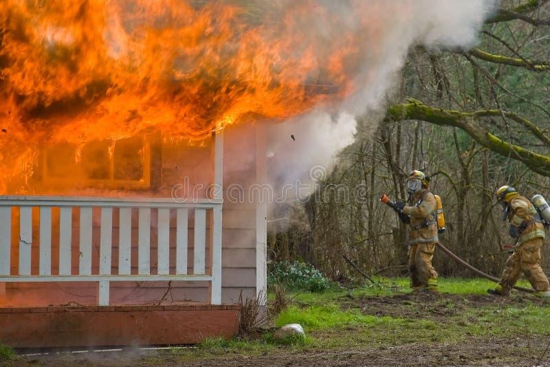 Incendie de Chambre photo libre de droits