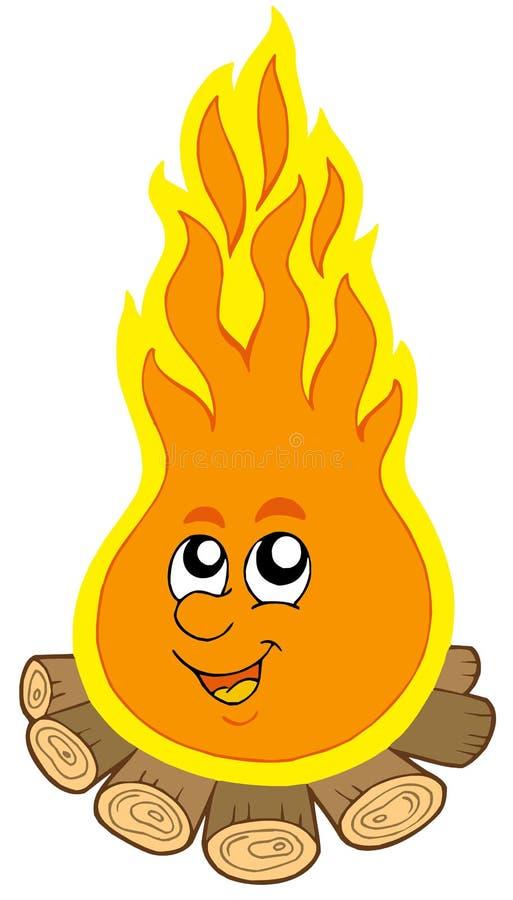 incendie de dessin animé de camp illustration libre de droits