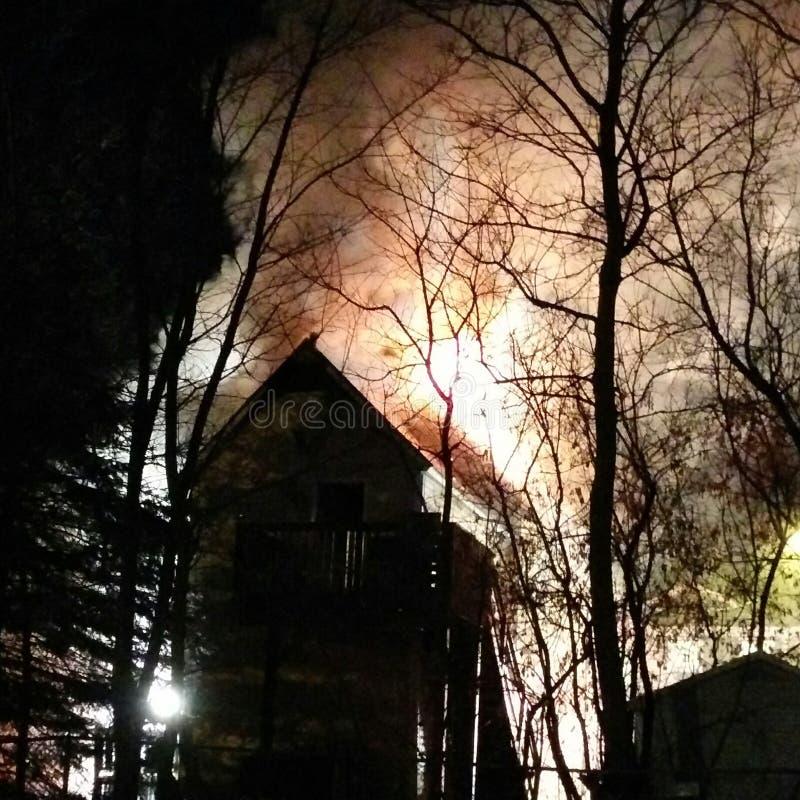 Incendie de flambage photographie stock libre de droits