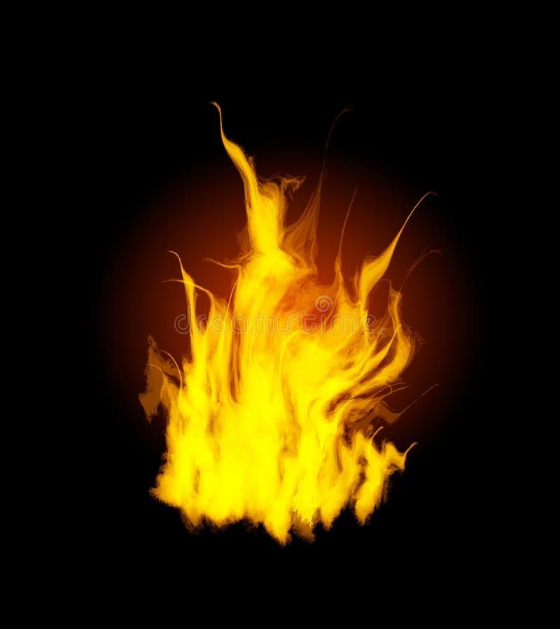 Incendie de flamme de brûlure illustration libre de droits