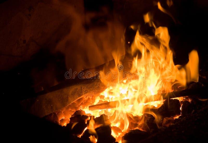 Incendie de forge photographie stock libre de droits